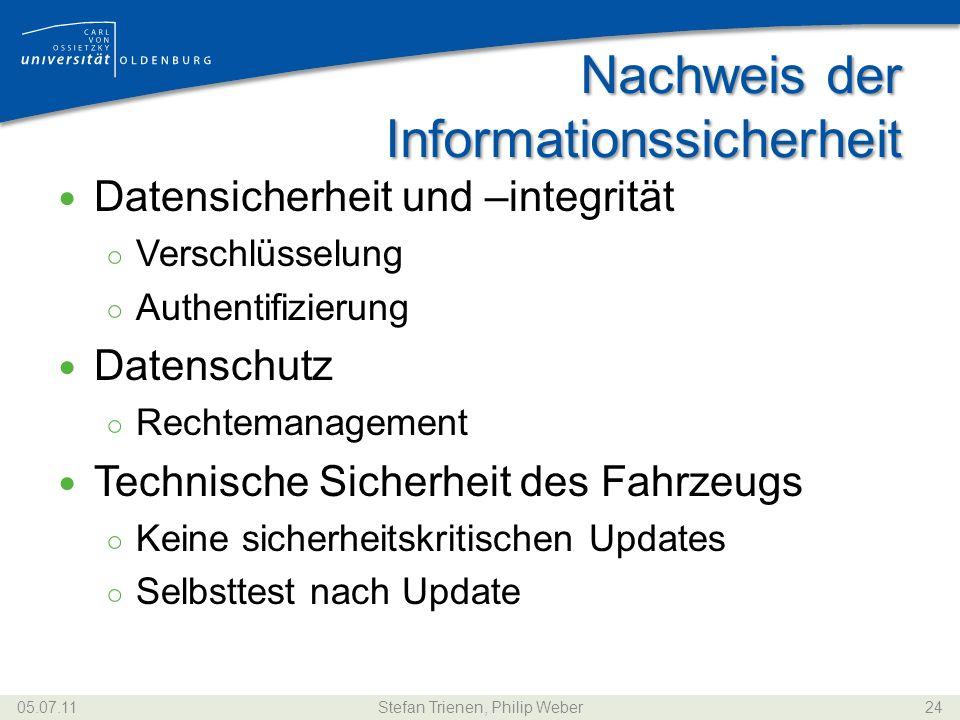 Nachweis der Informationssicherheit