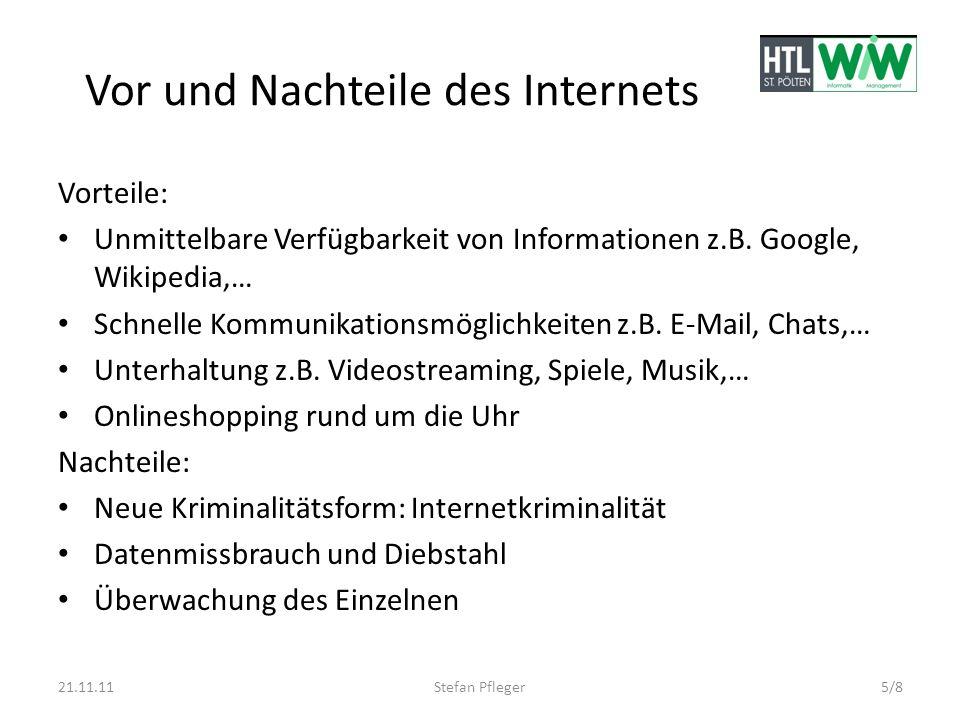 Vor und Nachteile des Internets