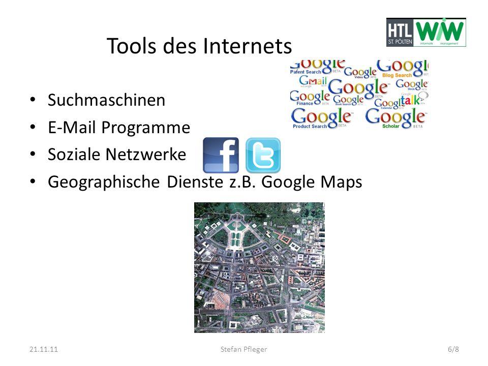 Tools des Internets Suchmaschinen E-Mail Programme Soziale Netzwerke
