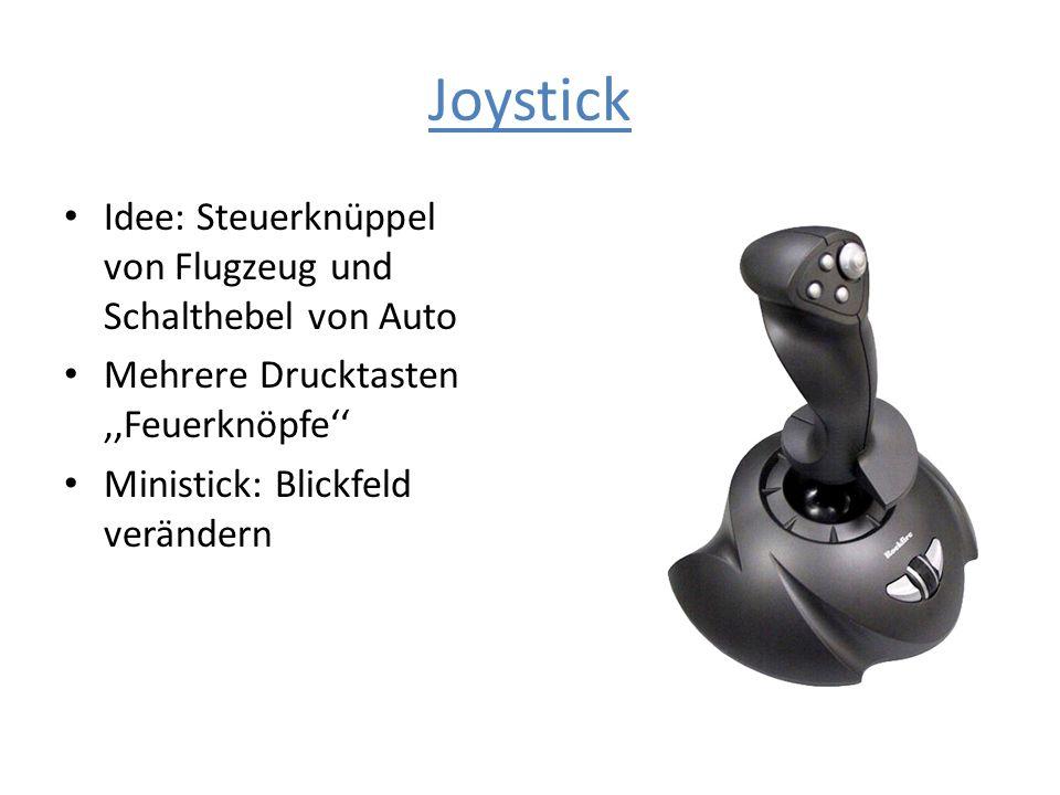 Joystick Idee: Steuerknüppel von Flugzeug und Schalthebel von Auto