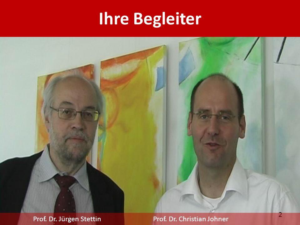 Ihre Begleiter Prof. Dr. Jürgen Stettin Prof. Dr. Christian Johner