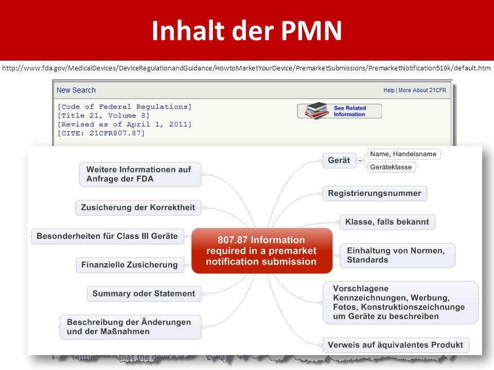 Inhalt der PMN