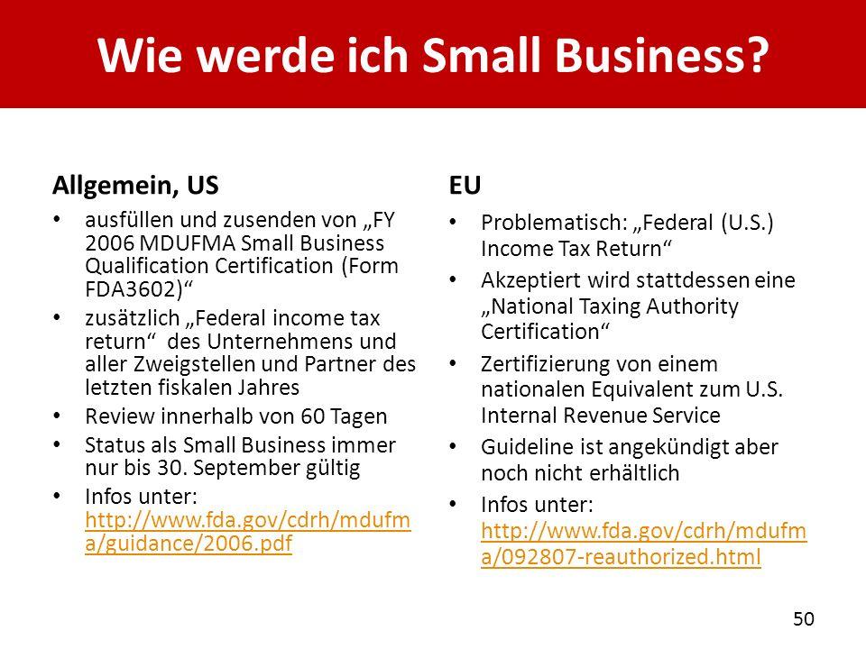 Wie werde ich Small Business