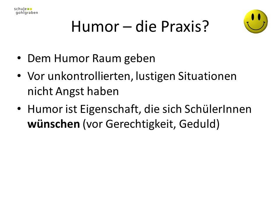Humor – die Praxis Dem Humor Raum geben