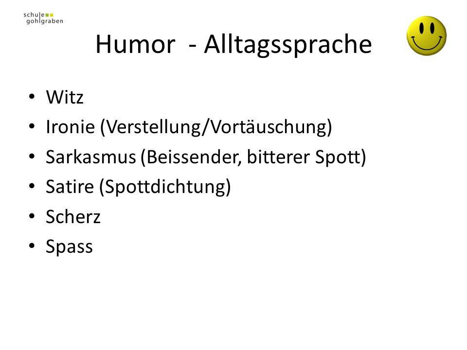 Humor - Alltagssprache