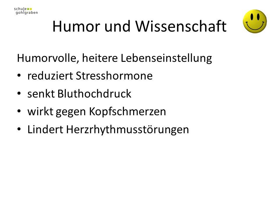 Humor und Wissenschaft