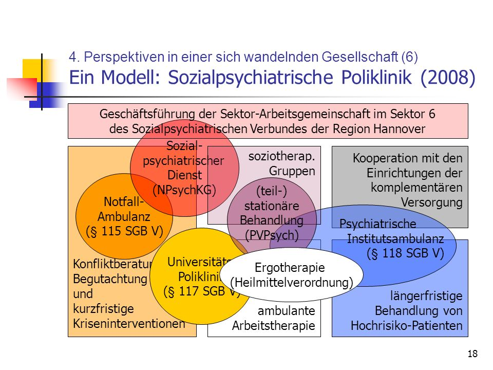 4. Perspektiven in einer sich wandelnden Gesellschaft (6) Ein Modell: Sozialpsychiatrische Poliklinik (2008)