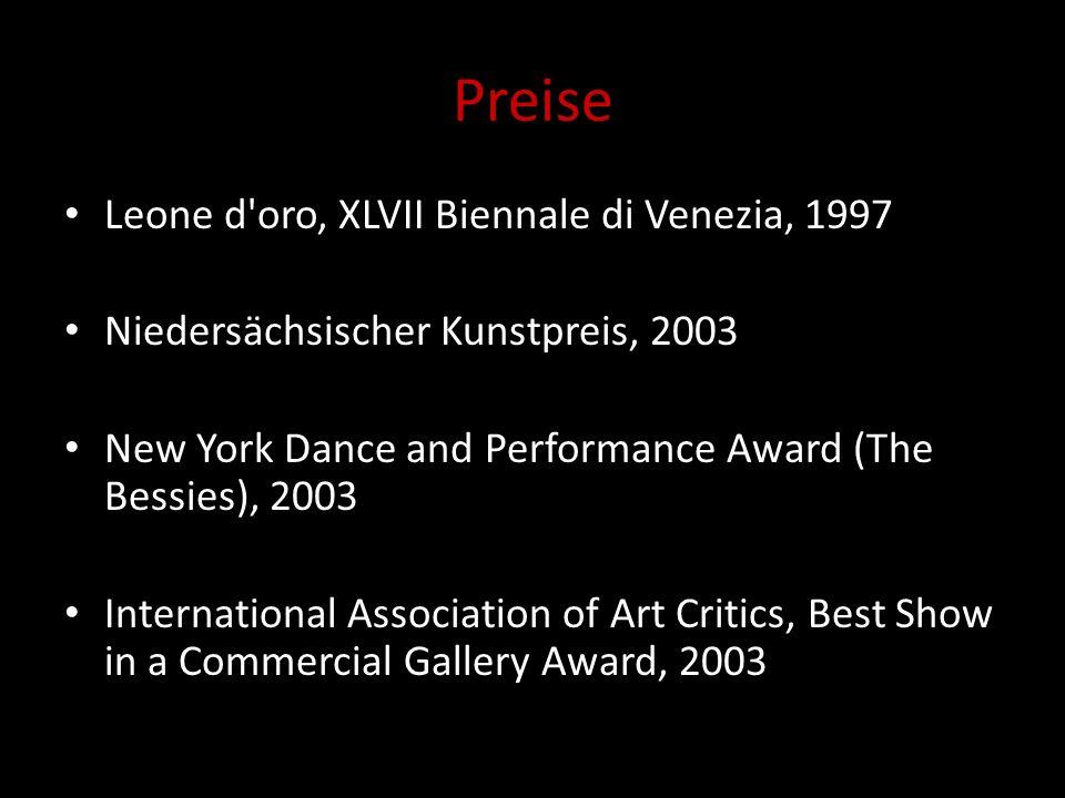 Preise Leone d oro, XLVII Biennale di Venezia, 1997