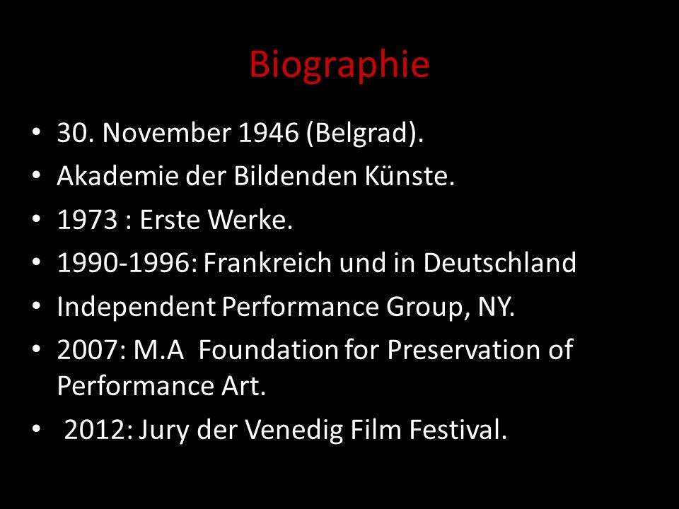 Biographie 30. November 1946 (Belgrad). Akademie der Bildenden Künste.