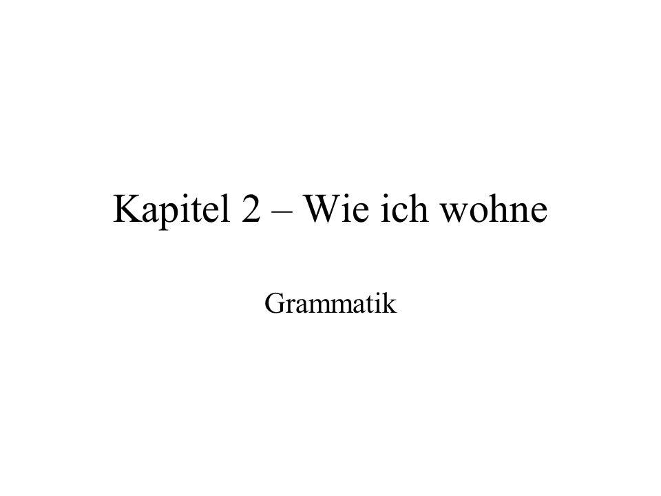 Kapitel 2 – Wie ich wohne Grammatik