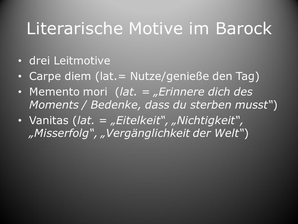 Literarische Motive im Barock