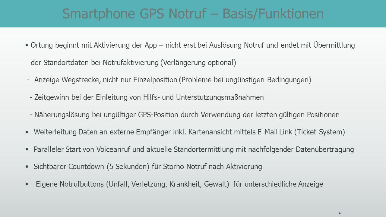 Smartphone GPS Notruf – Basis/Funktionen