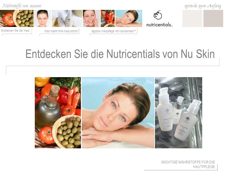 Entdecken Sie die Nutricentials von Nu Skin