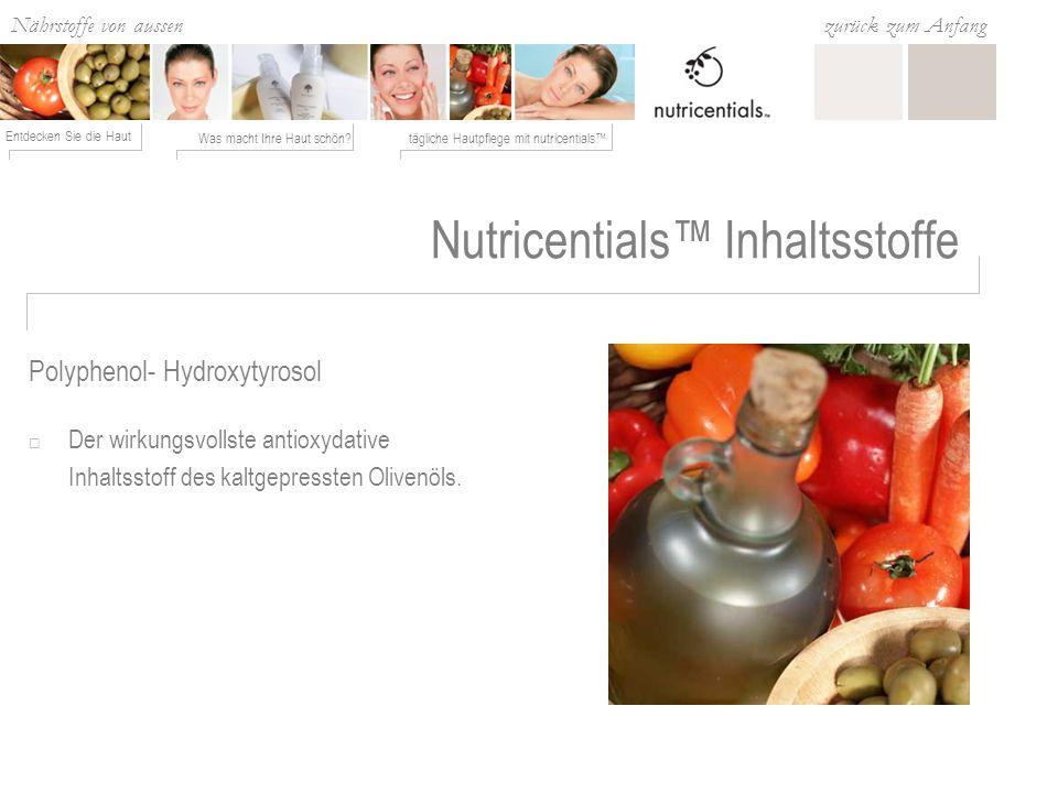 Nutricentials™ Inhaltsstoffe