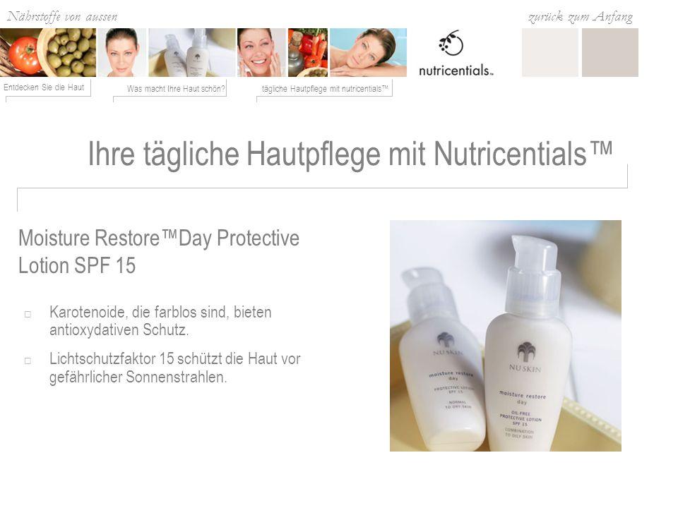 Ihre tägliche Hautpflege mit Nutricentials™