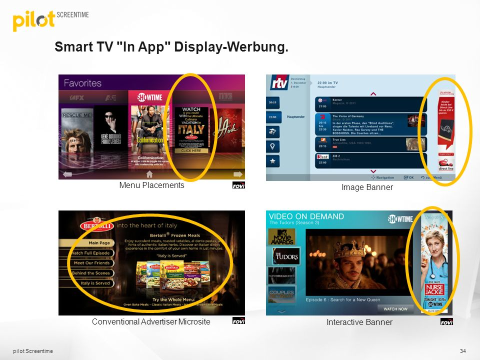 Smart TV In App Display-Werbung.