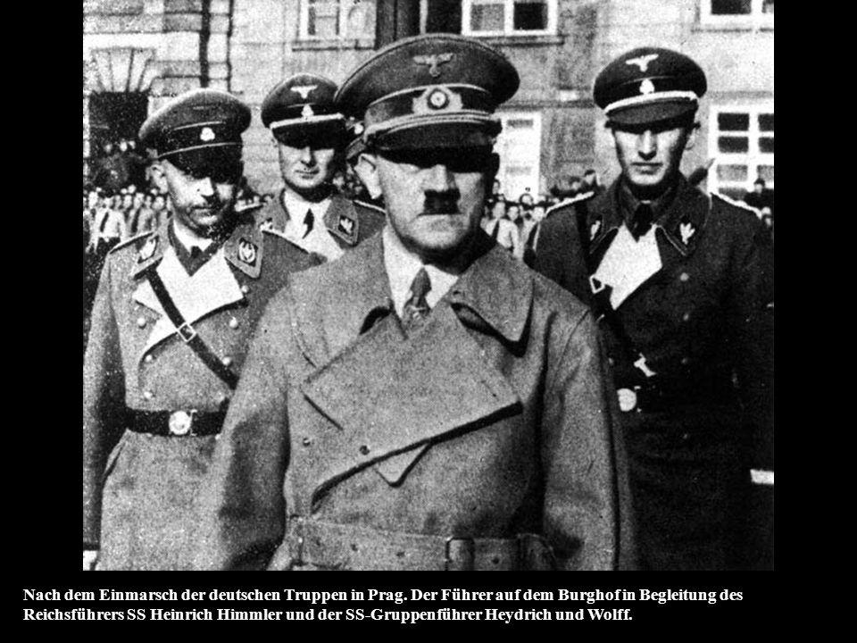 Nach dem Einmarsch der deutschen Truppen in Prag
