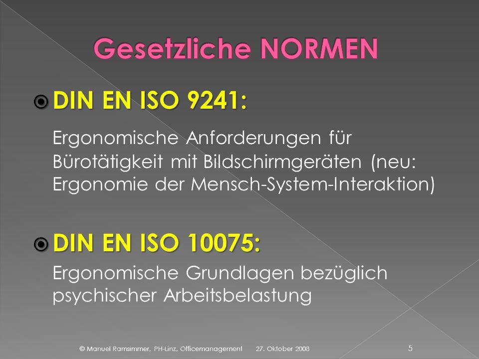 Gesetzliche NORMEN DIN EN ISO 9241: