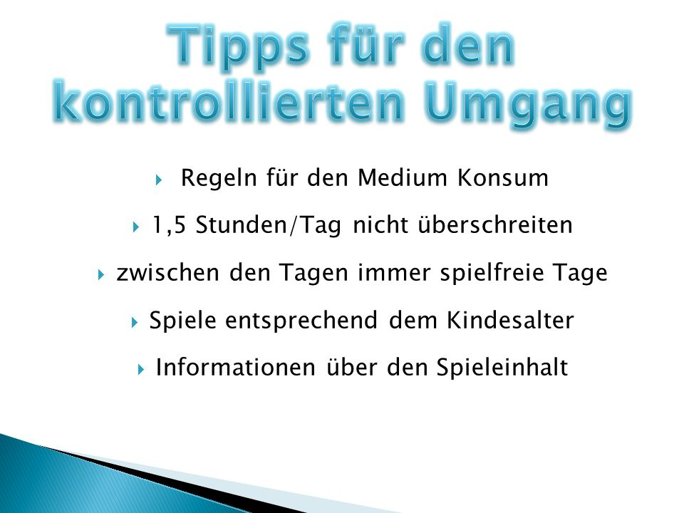 Tipps für den kontrollierten Umgang