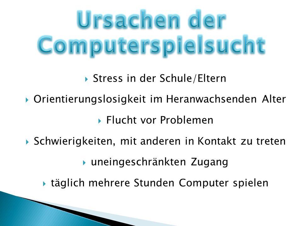 Ursachen der Computerspielsucht