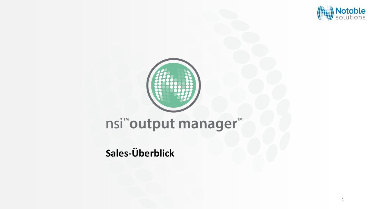 Sales-Überblick