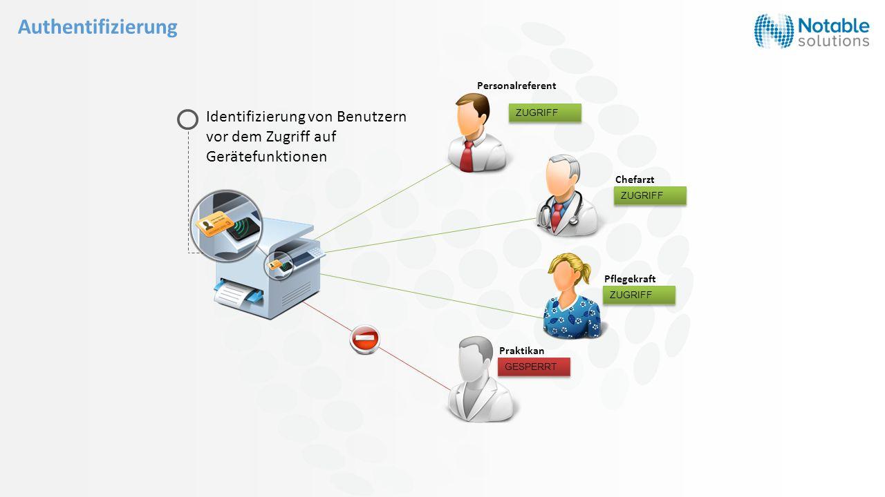 Identifizierung von Benutzern vor dem Zugriff auf Gerätefunktionen