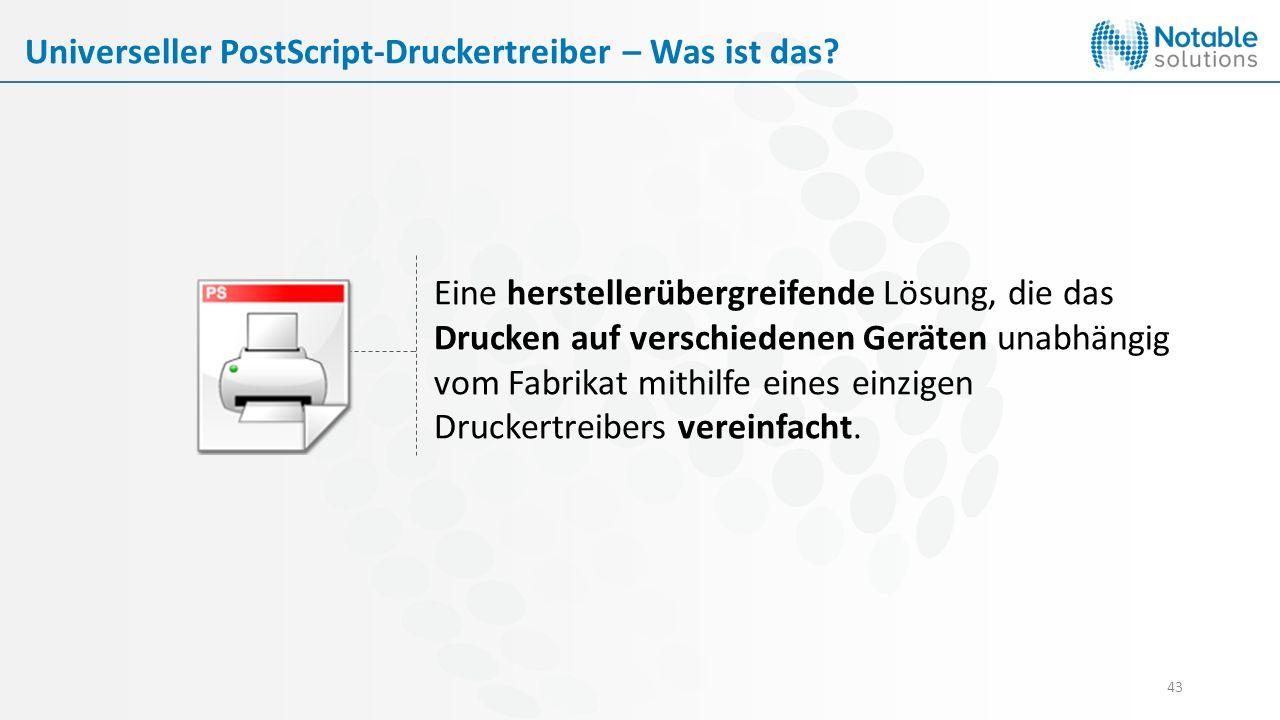 Universeller PostScript-Druckertreiber – Was ist das