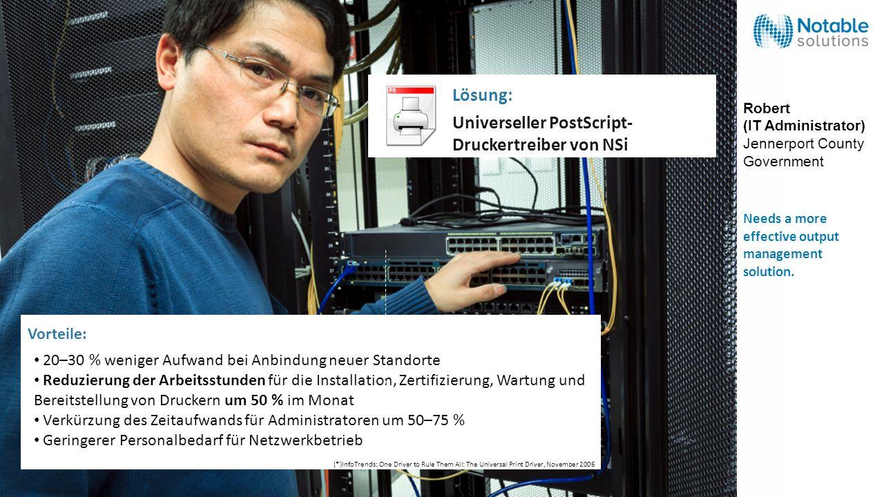 Universeller PostScript-Druckertreiber von NSi Lösung: