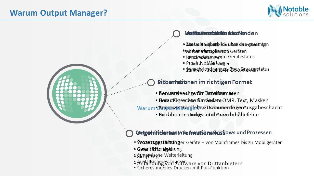 Warum Output Manager Volle Kontrolle Immer auf dem Laufenden