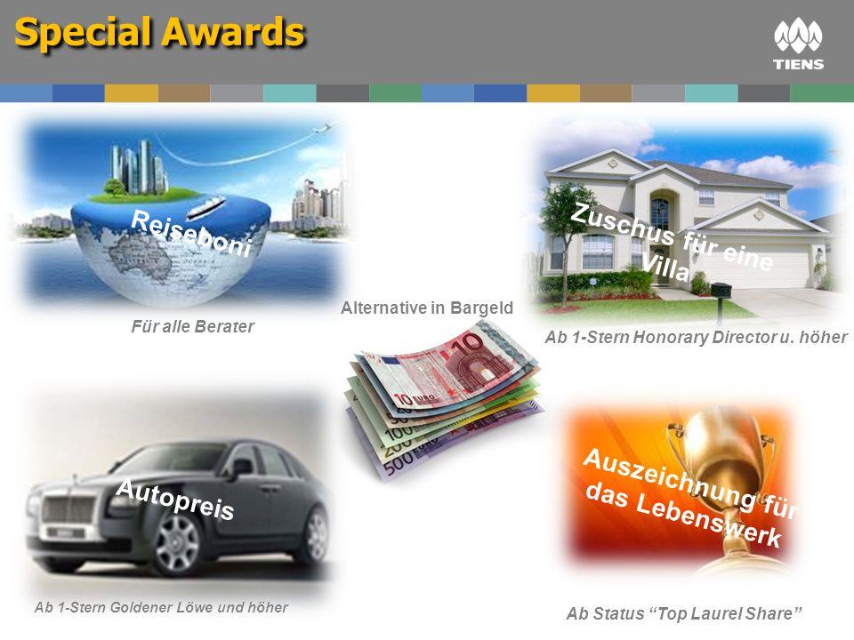 Alternative in Bargeld Auszeichnung für das Lebenswerk