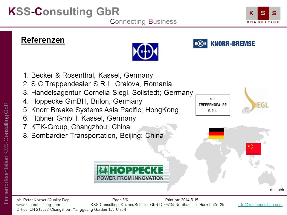 KSS-Consulting GbR Referenzen Connecting Business