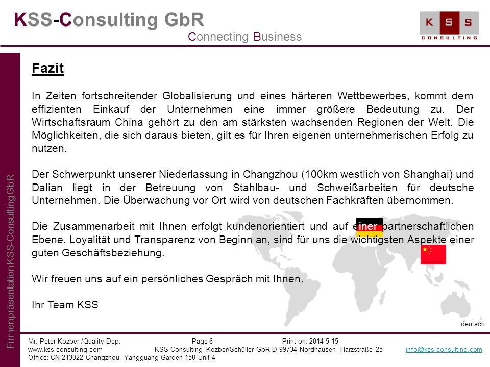 KSS-Consulting GbR Fazit Connecting Business