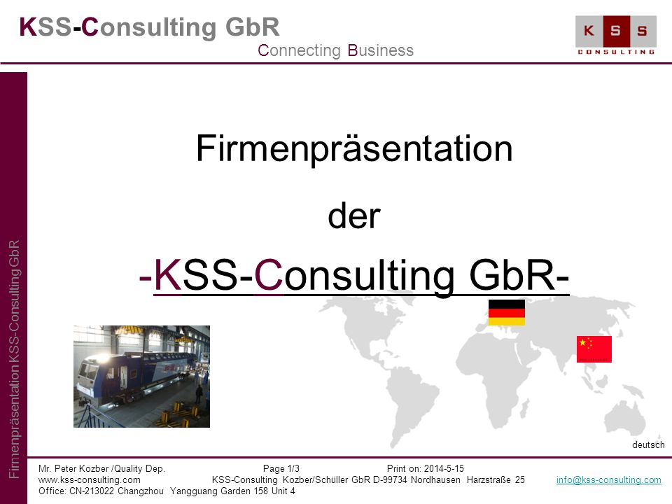 KSS-Consulting GbR- Firmenpräsentation der KSS-Consulting GbR