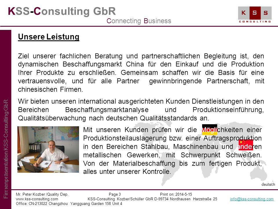 KSS-Consulting GbR Unsere Leistung Connecting Business