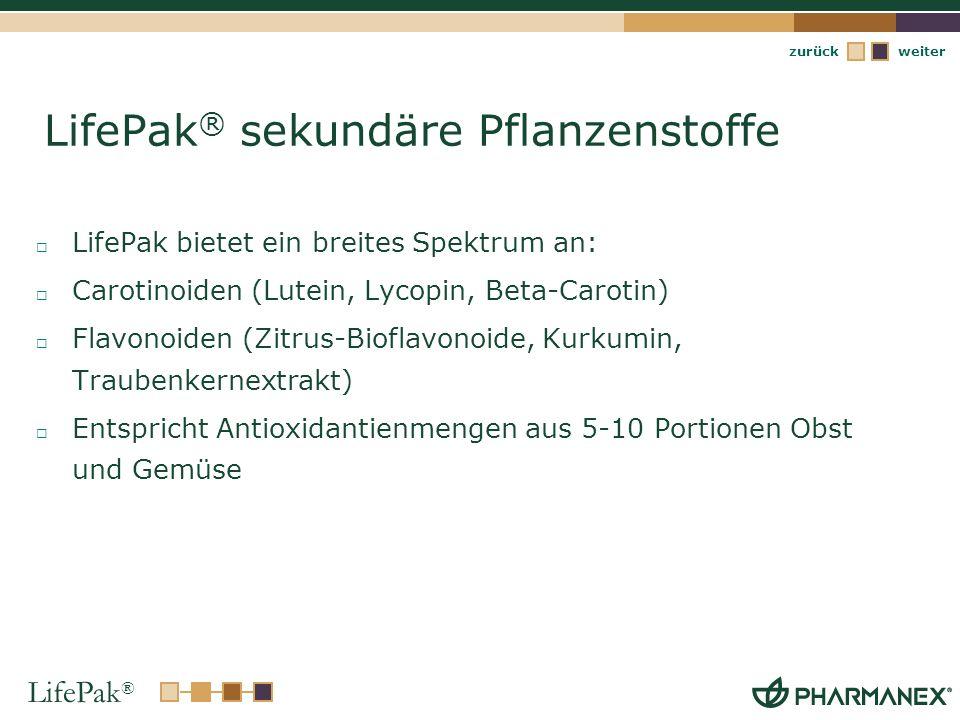 LifePak® sekundäre Pflanzenstoffe