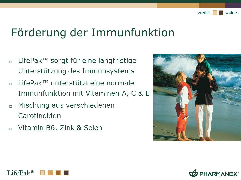 Förderung der Immunfunktion