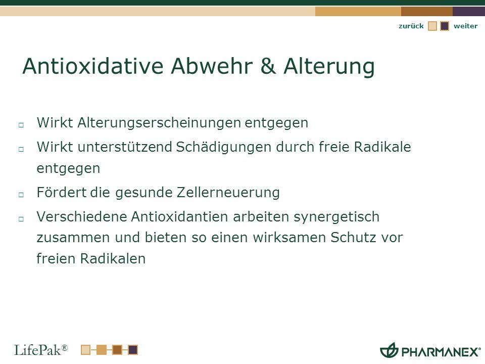Antioxidative Abwehr & Alterung