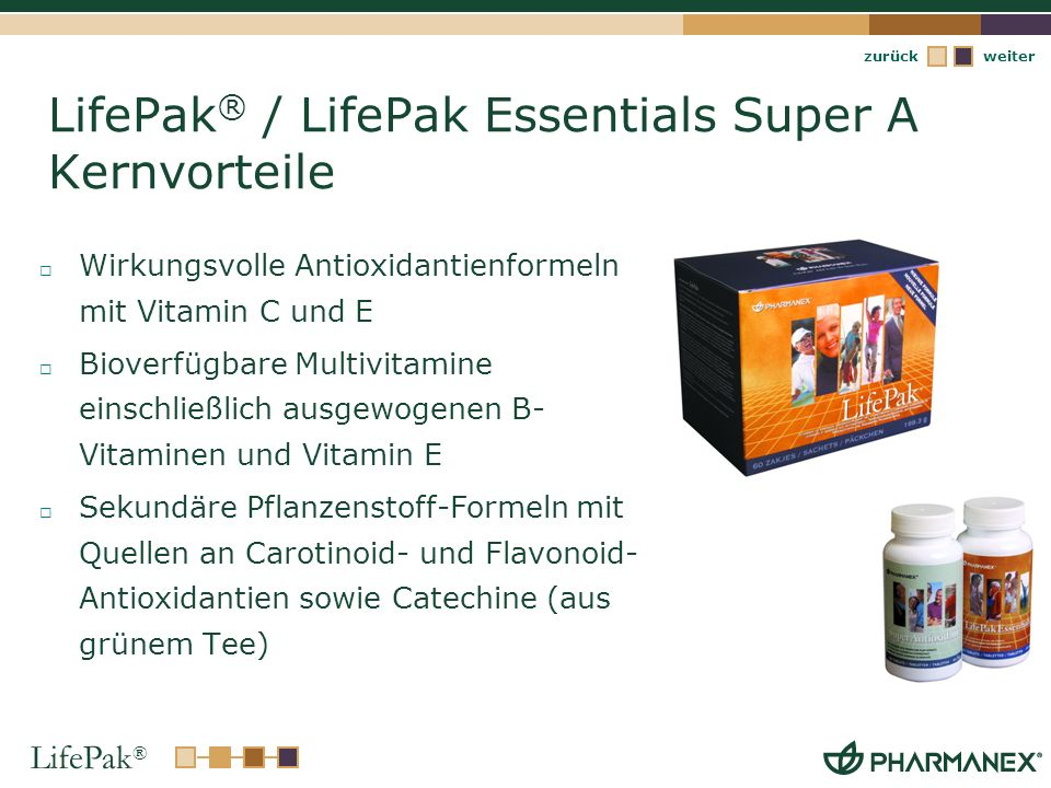 LifePak® / LifePak Essentials Super A Kernvorteile