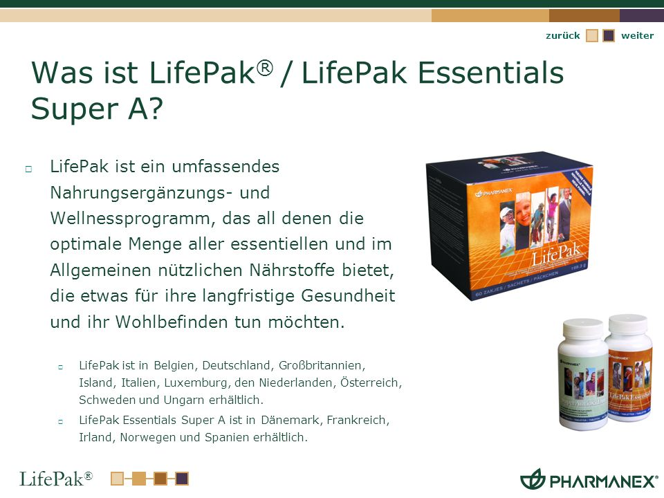 Was ist LifePak® / LifePak Essentials Super A