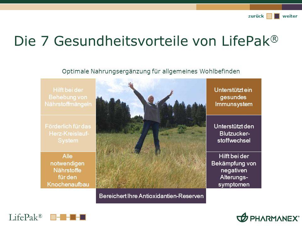 Die 7 Gesundheitsvorteile von LifePak®