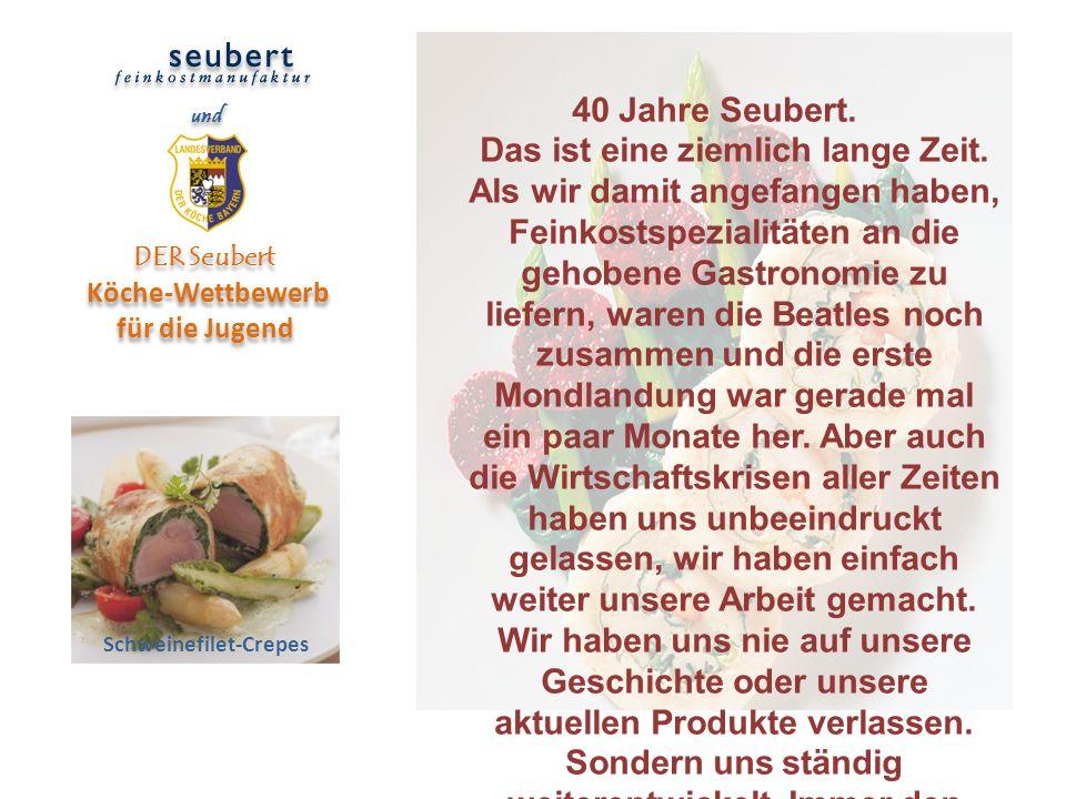 DER Seubert Köche-Wettbewerb für die Jugend Schweinefilet-Crepes