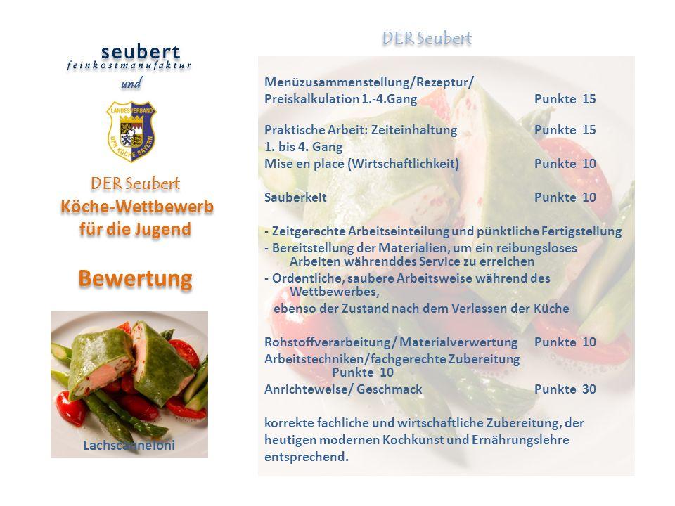 DER Seubert Köche-Wettbewerb für die Jugend Bewertung