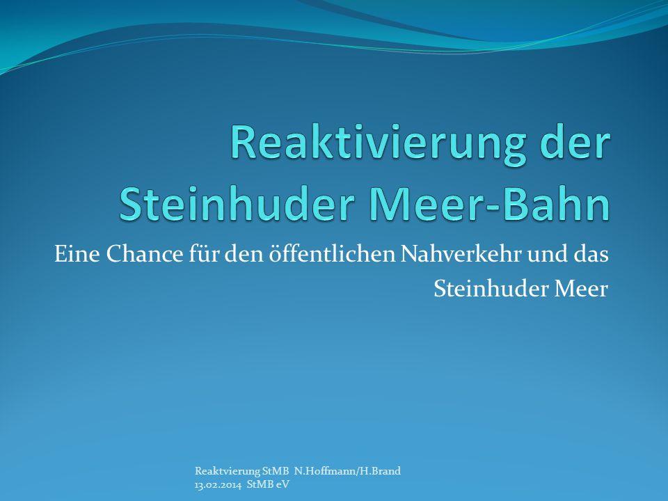 Reaktivierung der Steinhuder Meer-Bahn