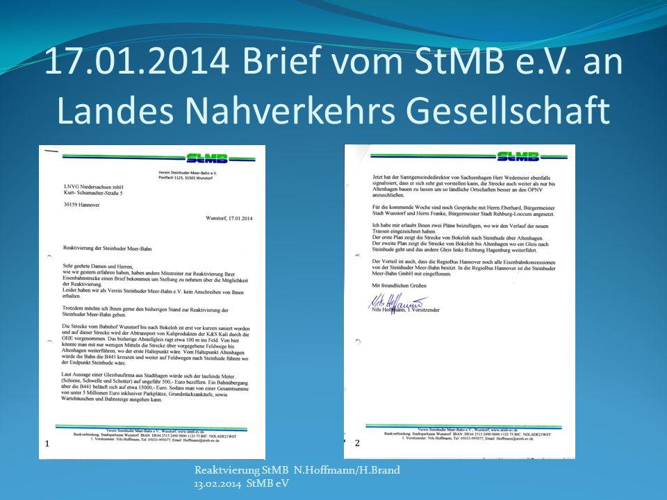 17.01.2014 Brief vom StMB e.V. an Landes Nahverkehrs Gesellschaft