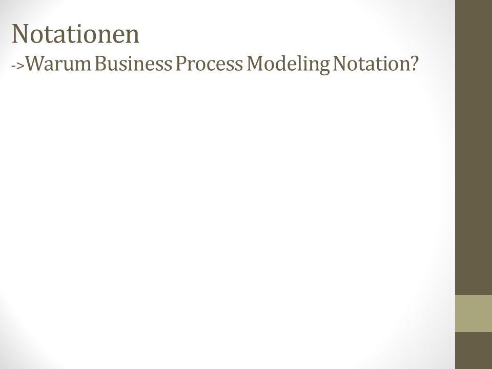 Notationen ->Warum Business Process Modeling Notation