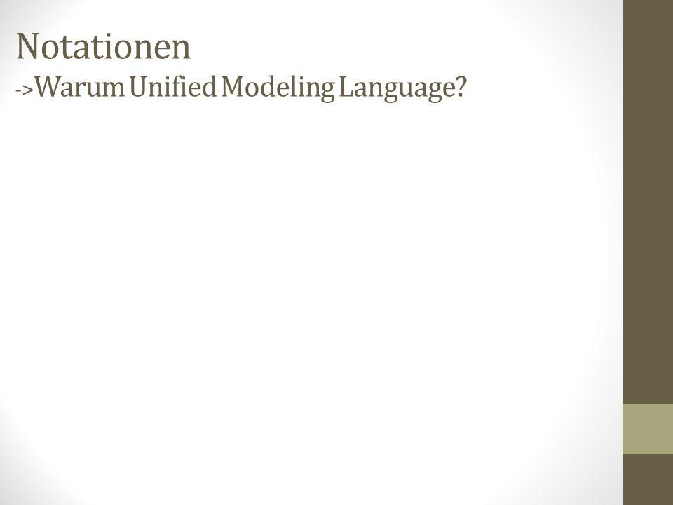 Notationen ->Warum Unified Modeling Language