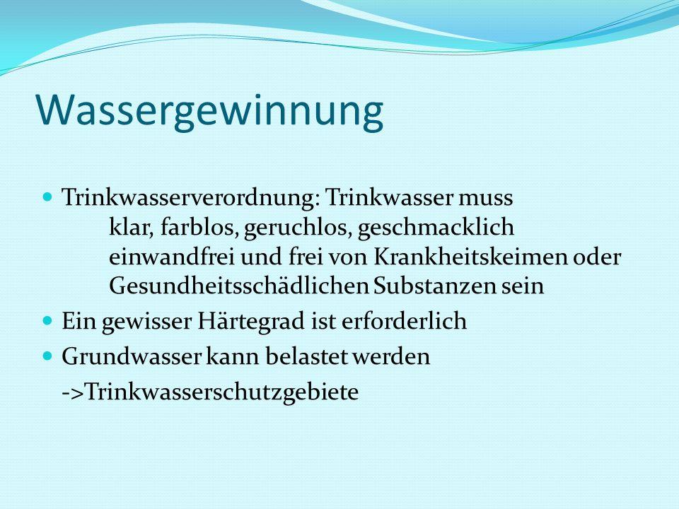 Wassergewinnung