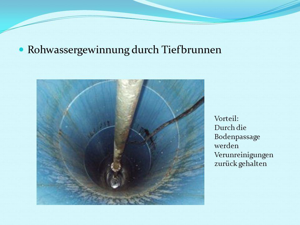 Rohwassergewinnung durch Tiefbrunnen