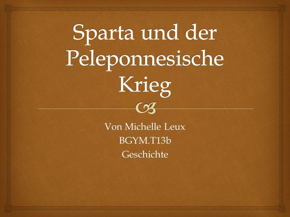 Sparta und der Peleponnesische Krieg