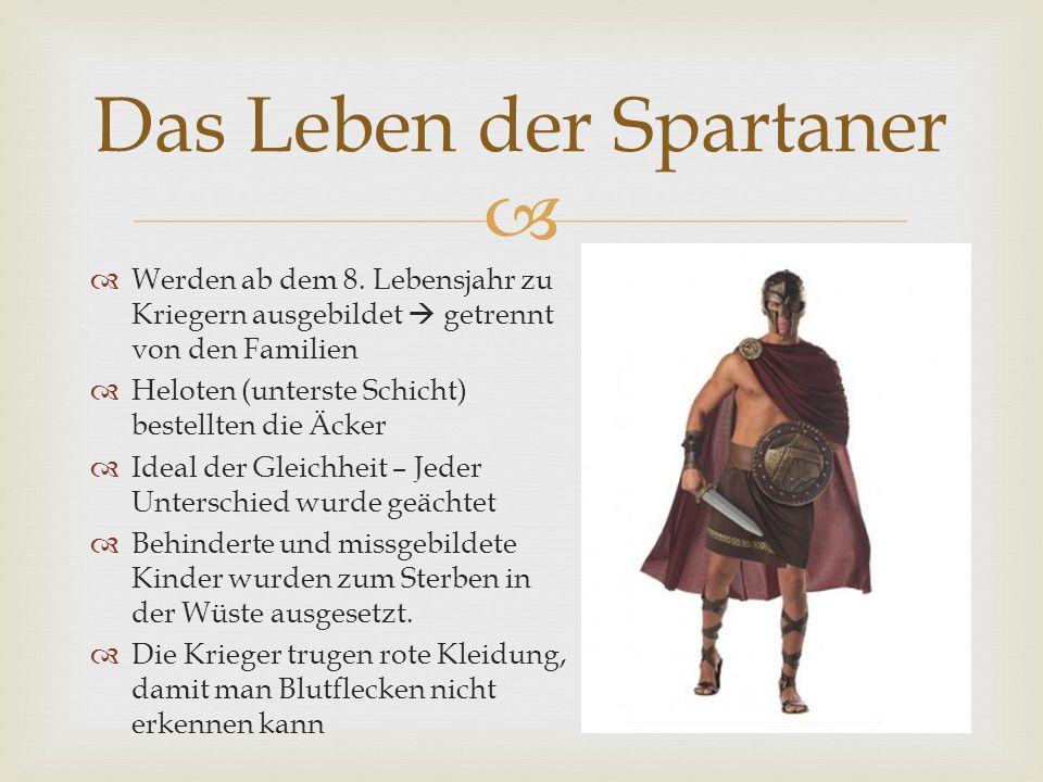 Das Leben der Spartaner